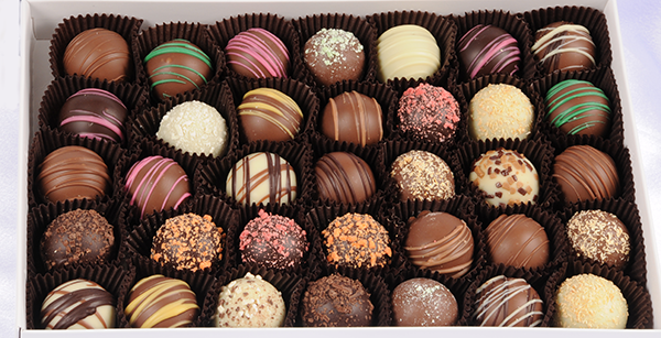 Truffles 48 piece with insulated packaging